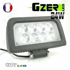 FEUX DE TRAVAIL PROJECTEUR LED 24W 12-24V BLANC ECLAIRAGE CAMION POUBELLE
