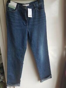 Next Tall Womens Blue Denim Jeans Boyfriend Mid Rise Size 14XL 14T BNWT