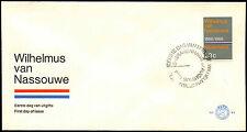 Paesi Bassi 1968 INNO NAZIONALE OLANDESE FDC PRIMO GIORNO DI COPERTURA #c36093