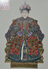 Antique Chinese Porcelain Famille Rose Ancestor Plaques