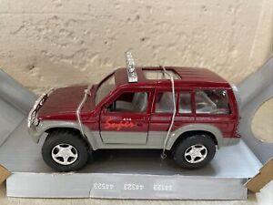Vintage Toyota Land Cruiser Red Super Friction 4x4 Diecast 1/32 Rare