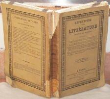 REPERTOIRE DE LA LITTERATURE ANCIENNE BIOGRAFIE GUARINI GRESSET GRIMM HERDER 825