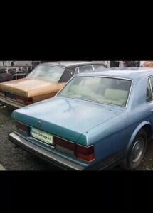 1981 ROLLS ROYCE SILVER SPIRIT BLUE FOR PARTS PLEASE ENQUIRE FOR PART NEEDED