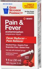 GNP Infants Pain and Fever Drops Acetaminophen Oral suspension Cherry 1 oz