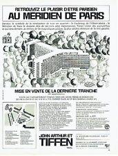 PUBLICITE ADVERTISING 126  1969  John Arthur & Tiffen  appartements Méridien Par