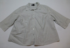 Style & Co Womens Size 22W Striped 3/4 Sleeve Button Front Shirt Great Condition