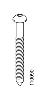 4x IKEA Hex5 Flat METRIC SCREW with Point M6 50mm Steel Black Part #110090
