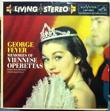 GEORGE FEYER memories of viennese operettas LP VG+ LSP 1862 Vinyl Living Stereo
