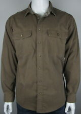 LL Bean Insulated Flannel Plaid Brown Shirt Large L
