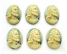 6 unset Christian Religious Easter JESUS CHRIST 40mm x 30mm CAMEOS DIY Cameos