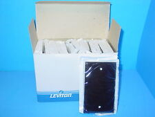 Wall Plate Blank Leviton 85014 Brown (Lot of 25)