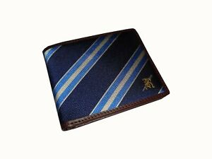 Ralph Lauren Rugby Silk and Leather Rowing Wallet NWT Collegiate Stadium Bear
