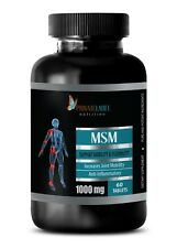 Pure MSM 1000mg Powder - Pain Relief Joint Mobility Arthritis 1 Bottle 60 Pills