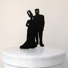 wedding cake topper  - Halloween Wedding Cake Topper, Frankenstein Silhouette We
