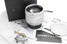 7artisans 50mm f1.1 chrome manual focus lens in Leica M mount, by DJ-Optical.