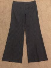 "BCBG Max Azria size 10 black striped camilla wool blend dress pants 33"" inseam"