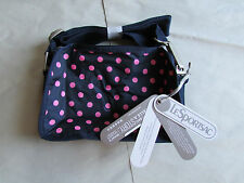 Le SportSak Camera Bag Crossbody Navy Pink NEW $95