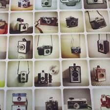 Stoff Meterware retro Kamera Fotoapparat Nostalgie Digital Baumwolle Dekostoff