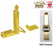 CHEST LOCK Loaded Clamp Clip Case Box Toggle Latch Catch 70x20mm Yellow