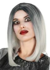 Womens Deluxe Gothic Black and White Wig