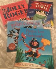 x4 Pirate Themed Kids Books Jolly Roger/Pirate Cruncher/Pirates Love Underpants.