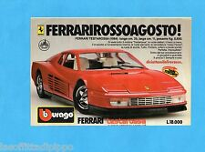 TOP985-PUBBLICITA'/ADVERTISING-1985- BURAGO - FERRARI TESTAROSSA 1984  1:18