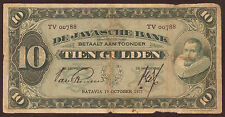 Ndl. Indien / Netherlands Indies 10 Gulden 1927 Pick 70a (5) VG