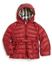 NWT BURBERRY $295 Baby Girls Nova Check Down Kids Winter Coat Jacket - 3 Months