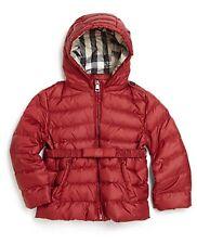 NWT BURBERRY $295 Baby Girls Nova Check Down Kids Winter Coat Jacket - 3 Months