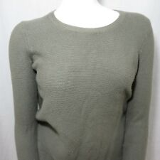 Madewell Knit Pullover Sweater M Army Green Lightweight Scoop Neck
