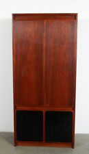 Mid Century Modern Paul McCobb for H. Sacks Walnut & Leather Wardrobe / Dresser