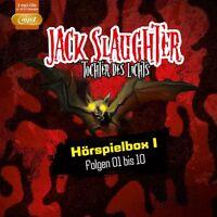 JACK SLAUGHTER - TOCHTER DES LICHTS - HÖRSPIELBOX I: FOLGE 01-10  2 MP3 CD NEW