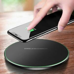 FAST Qi 10W WIRELESS PHONE CHARGER FOR iPHONE X 8 PLUS XR XS SAMSUNG NOTE S9 S10