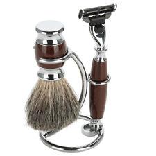 Men's Shaving Razor & Brush Stand Shaver Stainless Steel Holder Stand Rack