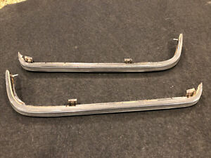 Mercedes 1976-85 W123 Left & Right Rear Chrome Strip Under Tail Light Moulding