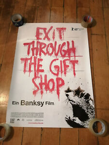 BANKSY - exit through the gift shop Authentic movie poster (Mr Brainwash invader