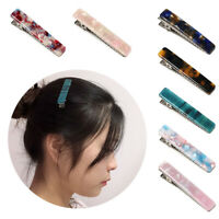 Square Women Fashion Hairpin Girls Hairgrips  Barrettes Acrylic Hair Clips