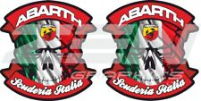 Fiat 500 / 595 / 695 Abarth italia panel wing Decals / Stickers 60mm tall