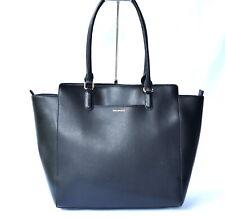 New VERA BRADLEY Black Vegan Leather Large Shoulder Tote Bag NWOT