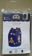 "DMC creative world counted cross stitch ""Leo and Lea"" Bag"