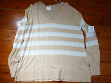 LADIES COTTON STRIPED JUMPER SIZE L
