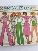 1978 McCalls 6019 Vintage Sewing Pattern Womens Top Skirt Pants Size 14 Bust 36