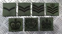 Genuine British Military Issue MTP Green Rank Slider Assorted Ranks - NEW