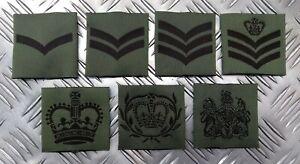 Genuine British Military Issue MTP Green Rank Slider Assorted Ranks - NEW