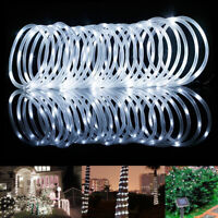 100LEDs 32.8FT Solar Rope Tube Fairy Lights LED String Waterproof Garden Outdoor