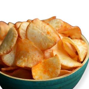 Organic Tapioca Crispy Chips | Cassava Chips (Yuca) Salt & Chilli Snacks Chips