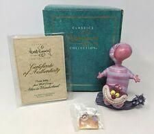 WDCC Disney Cheshire Cat Twas Brillig Alice in Wonderland Box BONUS PIN COA A003