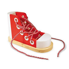 Melissa and Doug * Wooden Lacing Sneaker * NEW classic toy learn tie shoelace