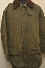 "BARBOUR A400 WAX COTTON NORTHUMBRIA JACKET 46"" / 117CM GREEN *WOOL LINING*"