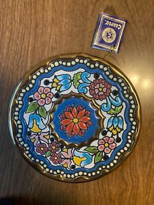 Spanish Ceramic Pottery Plate Cearco Decorative Wall Hanging Hand Painted